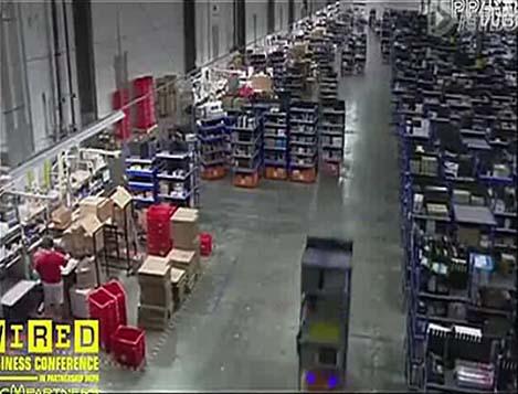 美国亚马逊仓库管理机器人